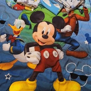 4 Piece Toddler Mickey Mouse Bed Set